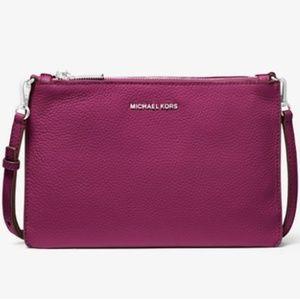 Michael Kors Adele Leather Crossbody Bag NWT